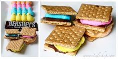 Easter food ideas: Peeps S'mores. http://bit.ly/HsdJWX