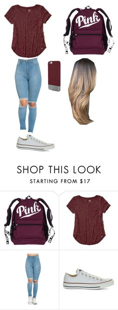 """""""typical girl"""" by maliyah-waldron on Polyvore featuring Hollister Co., Converse and Original Penguin"""