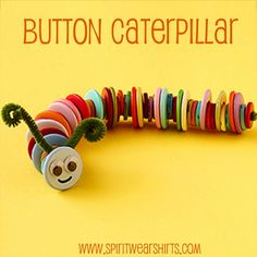Button Caterpillar - Easy and Quick Craft for the Kiddos.