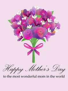 Send Free Flower Wreath Happy Mother's Day Card to Loved Ones on Birthday & Greeting Cards by Davia. It's free, and you also can use your own customized birthday calendar and birthday reminders. Happy Mother Day Quotes, Mother Day Wishes, Happy Mothers Day, Happy Mother's Day Card, Happy Mother's Day Greetings, Happy Day, Birthday Greeting Cards, Birthday Greetings, Card Birthday