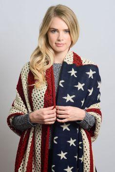 wrap american americana blanket scarf knit wholesale leto