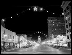 Congress Avenue in Austin at Christmas, 1947.