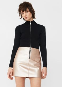 Falda metalizada | MANGO