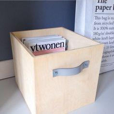 caixa de madeira para o ateliê