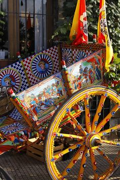 Typical Cart in Cefalu, Sicily, Italy
