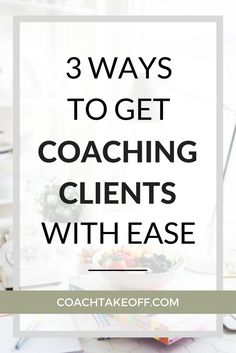 For new coaches and female entrepreneurs: how to get coaching clients using easy automated and streamlined client onboarding systems, including booking discovery call sessions and filling up your coaching calendar with ideal clients.