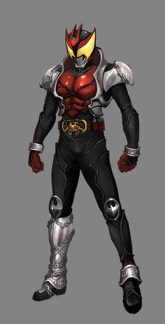 Upper Body reference for Death Metal    Rough - Kamen Rider Kiva by ~reaper78 on deviantART