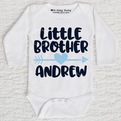 63ffe5ca2 Little Brother Bodysuit or Tee. Long Sleeve And ShortsLong Sleeve BodysuitBaby  ShirtsHandmade DesignCustom ...