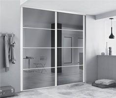 Portes de dressing avec miroirs pour agrandir l'espace. #dressing #portesmiroir