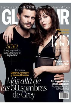 Jamie and Dakota are on the cover of Glamour Mexico as well! Fifty Shades Series, Fifty Shades Movie, Shades Of Grey Movie, Fifty Shades Of Grey, Dakota Johnson, Jamie Dornan, Dakota Y Jamie, Glamour Mexico, Dakota Style