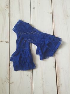 Girl ruffle lace shabby leg warmers, lace leggings, baby, toddler, girl, blue, royal blue, blue, aqua, ruffle leg covers, child, rustic by POSHinPINKKIDS on Etsy