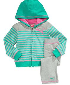 Baby Girl Stuff: Puma Baby Girls' 2-Piece Striped Jacket & Yoga Pan...