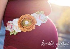 NEW Maternity Sash - Country Morning Maternity Sash, Bridal Sash, Belt, Headband, Wedding -  Photo prop - Unisex, Boy, Girl. $34.99, via Etsy. @Heather Lightsey