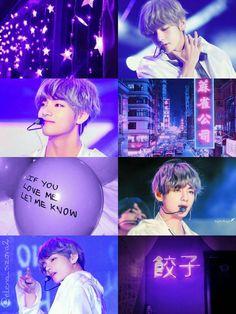 Kim Taehyung #kpop #korea #asianboy #BTS #KimTaehyung #taehyung #V #Tae #taetae #collage #purple #violet