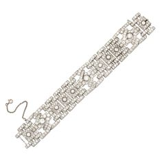 1stdibs | Cartier, Platinum and Diamond bracelet
