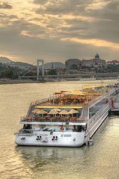 Ship cruises on the Danube Budapest, Hungary River Cruises In Europe, European River Cruises, Cruise Europe, Places Around The World, Around The Worlds, Visit Budapest, Budapest Travel, Danube River Cruise, Capital Of Hungary