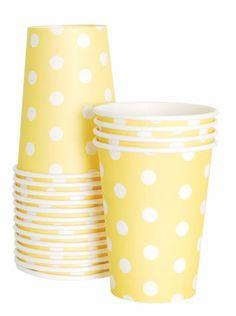Fridas kalas - yellow polkadot papercups