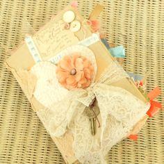 Shabby Wedding Guest Book Altered Book Custom by SouthernShabbyGal, $200.00