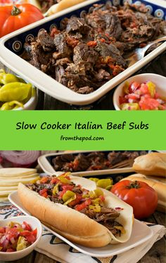 These Italian Beef Subs from @afamilyfeast are sure to score with your friends and family. The MVP in this recipe is the slow cooker - that lets you relax and enjoy the game. Slow Cooker Italian Beef, Crock Pot Slow Cooker, Crock Pot Cooking, Slow Cooker Recipes, Real Food Recipes, Crockpot Recipes, Cooking Recipes, Easy Recipes, Dinner Sandwiches