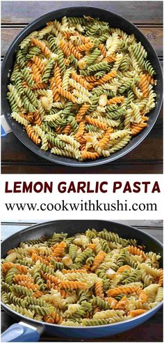 Lemon Garlic Pasta is a simple and flavorful comfort food ready in less than 20 minutes. It doesn't get any easier than this pasta. Yummy Pasta Recipes, Great Recipes, Dinner Recipes, Noodle Recipes, Amazing Recipes, Rice Recipes, Delicious Recipes, Favorite Recipes, Healthy Indian Recipes
