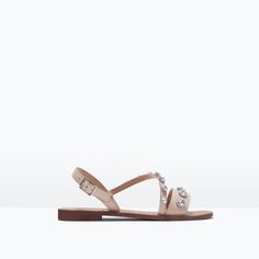 ZARA - SHOES & BAGS - JEWELLED LEATHER SANDALS