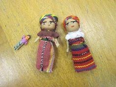 poupée tracas du Guatemala ou mangeuses de chagrin