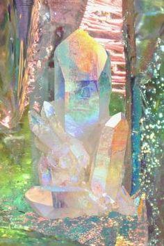 Angel Aura Quartz / #MIZUstyle: Crystals, Quartz Crystal, Color, Mineral, Rock, Brian Seen