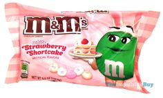 White Strawberry Shortcake M&M's. Tastes like a strawberry lollipop. Has a definite strawberry shortcake flavor, too, but still didn't like them Funny Food Memes, Food Humor, Blue Bunny Ice Cream, White Strawberry, Snack Items, Valentines Day Treats, Weird Food, Food Goals, Seasonal Food