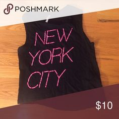 "F21 tank top Tank with ""New York City"" printed in neon pink. Size M but would fit a small, and only worn once! Forever 21 Tops Tank Tops"