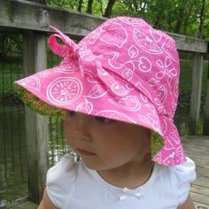 4 in 1 Sun Hat with Ties. I'm going to have to make this for Hailey.