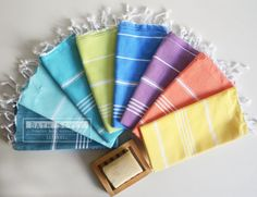 turkish towels // fabulous colours #designinspiration