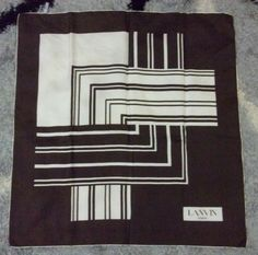 Hey, I found this really awesome Etsy listing at https://www.etsy.com/listing/181936036/vintage-lanvin-paris-dark-brown-white