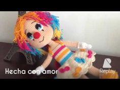 Tejiendo vestido payasa crochet. - YouTube