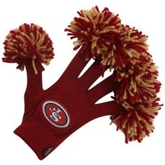 NFL San Francisco 49ers Red Spirit Fingerz by WinCraft. $24.95. Officially licensed by the NFL. Top Quality, Manufactured by Wincraft. Officially licensed by the San Francisco 49ers. You'll stay cozy and show your spirt at the game or tailgate this year. Spirit Fingerz are a lightweight knit glove with a miniature pom-pom attached to each fingertip to intensify your level of spirit! Features team colors with a embroidered team patch decorating each glove. Officially licensed...