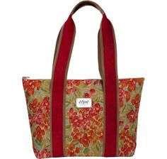Charleston Large Tote with Fabric on Strap
