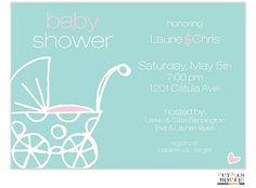 Polka Dot Buggy Invitation | Zurianas Elegant Occasions #babyshower #baby
