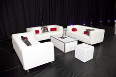 White Bar Mitzvah Lounge with Black & Red The Event Of A Lifetime, Inc.