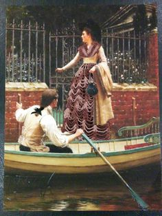 Mixed media piece (using Edmund Blair Leighton's The Elopement as a base) donated by Jen Ingrey