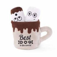 Shop our fun stuffed dog toy set that includes a crinkle-lined mug filled with squeaker marshmallows. Delight your pup and retrieve his next favorite toy today! Cute Dog Toys, Pet Toys, Dog Gifts, Dog Treats, Hot Chocolate, Best Dogs, Cocoa, Your Dog, Mugs