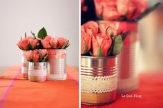 Pots de fleurs, lumignons, vases, La converse se refait peau neuve dans nos plus belles réceptions