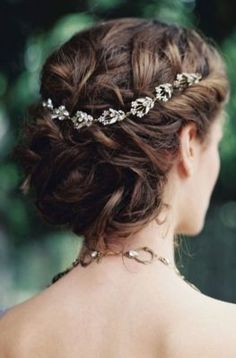 Simple Crown Updo Wedding Hairstyle