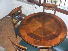 Kahverengi Masif Yemek Masası Ve Sandalyeleri - Dekopasaj.Com - dekopasaj.com