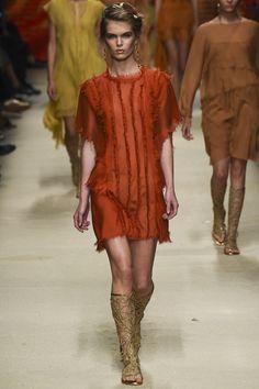 raw edges as design element  Alberta Ferretti Spring 2016 Ready-to-Wear Fashion Show