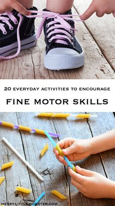 activities to encourage fine motor skills Motor Skills Activities, Kids Learning Activities, Gross Motor Skills, Fun Learning, Craft Stick Crafts, Kids Crafts, Train Up A Child, Everyday Activities, Creative Thinking
