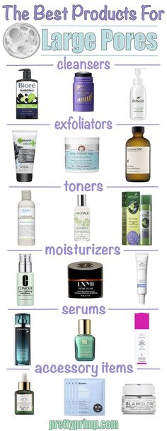 Want to know how to get rid of your large pores? Check out these products and remedies that are proven to shrink large pores! #largepores #skincare #pores #beautyhacks