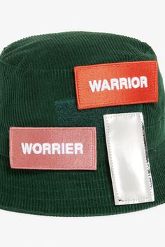 e578a93e43a Detailed image of Monki corduroy hat in green Chapéus Verdes