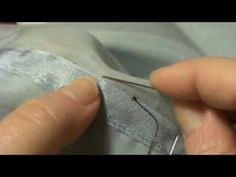 How to do a classic hem stitch by hand (for use on good suits or beautiful dresses that have been finished with a seam binding) - good video!