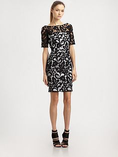 MILLY  SEE DETAILS HERE: Lace Boatneck Dress