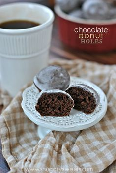 Chocolate Glazed Donut Holes
