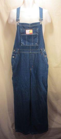 Vintage Dickies Men S Overalls Denim Blue Bibs Farmer